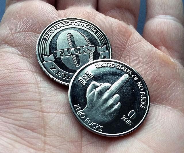 Zero Fucks Given Coins
