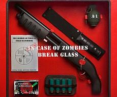 Zombie Apocalypse Glass Cabinet