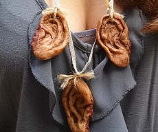 Zombie Ears Necklace