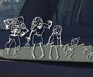 Zombie Family Car Stickers